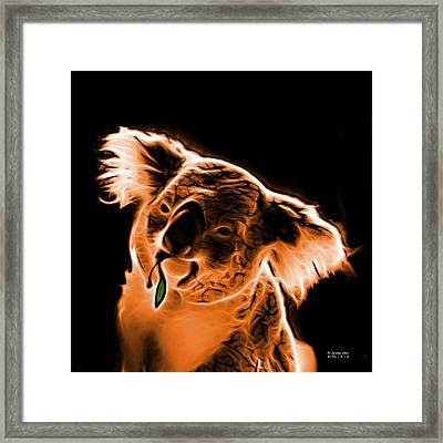 Koala Pop Art - Orange Framed Print by James Ahn