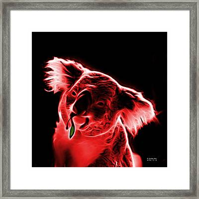 Koala Pop Art - Red Framed Print by James Ahn