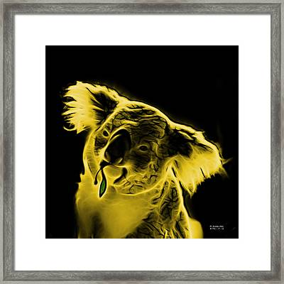 Koala Pop Art - Yellow Framed Print by James Ahn