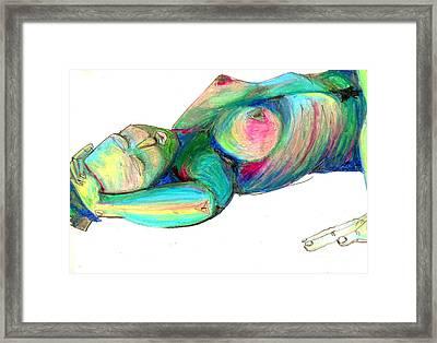Koerperstudie3 Framed Print by Roswitha Schmuecker
