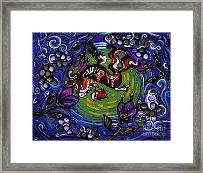 Koi Fish Framed Print by Genevieve Esson