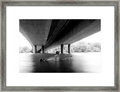 Shopping Cart Framed Print featuring the photograph Konsum Flaute by Available For Sale