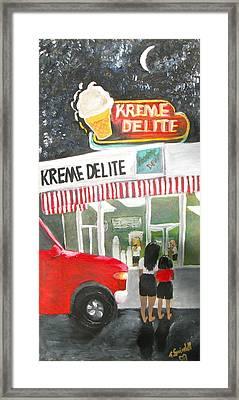 Kreme Delite Framed Print by Tina Swindell