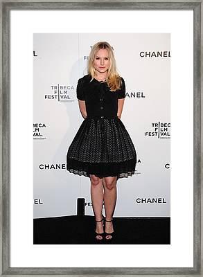 Kristen Bell At Arrivals For Chanel Framed Print by Everett
