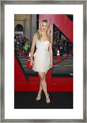 Kristen Bell Wearing A Dress By J Framed Print by Everett