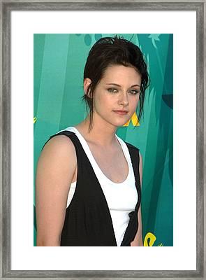Kristen Stewart At Arrivals For Teen Framed Print by Everett