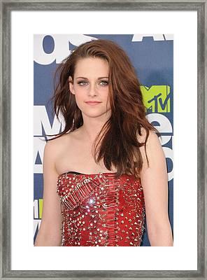 Kristen Stewart Wearing A Balmain Dress Framed Print by Everett