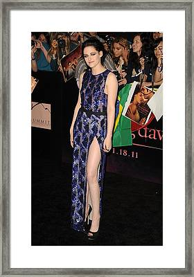 Kristen Stewart Wearing A J. Mendel Framed Print by Everett