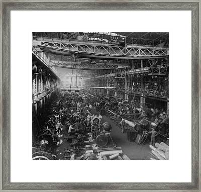 Krupp Cannon Manufacturing In Essen Framed Print by Everett