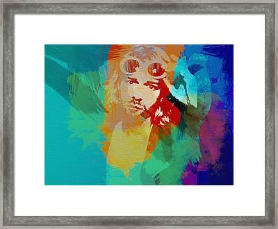 Kurt Cobain Framed Print by Naxart Studio