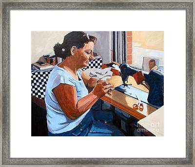 Kydrete The Seamstress Framed Print by Deb Putnam