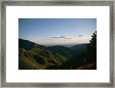 Hazy Days In Los Angeles   Framed Print by Gilbert Artiaga