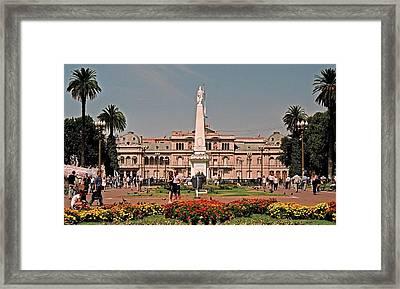 La Casa Rosada ... Framed Print by Juergen Weiss