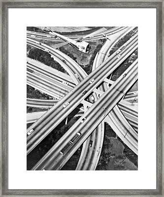 La Freeway Interchange Framed Print by Underwood Archives