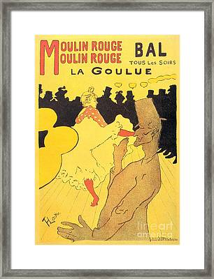 La Goulue Framed Print by Pg Reproductions