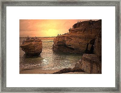 La Jolla Children's Cove Framed Print by Richard Shelton