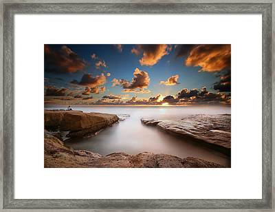 La Jolla Reef Sunset 4 Framed Print by Larry Marshall