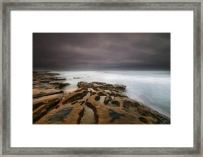 La Jolla Reef Sunset 5 Framed Print by Larry Marshall