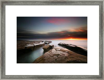 La Jolla Reef Sunset 7 Framed Print by Larry Marshall
