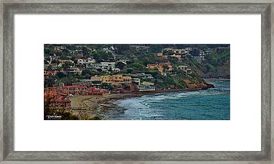 La Jolla Shores Lifestyle Framed Print by Russ Harris