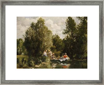 La Mare Aux Fees Framed Print by Pierre Auguste Renoir