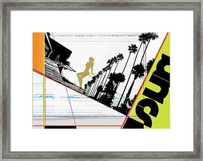 LA Framed Print by Naxart Studio