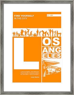 La Orange Poster Framed Print by Naxart Studio