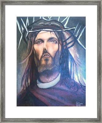 La Passione Di Cristo Framed Print by Antonio Cariola