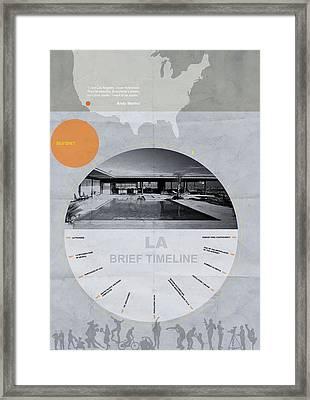 La Poster Framed Print by Naxart Studio
