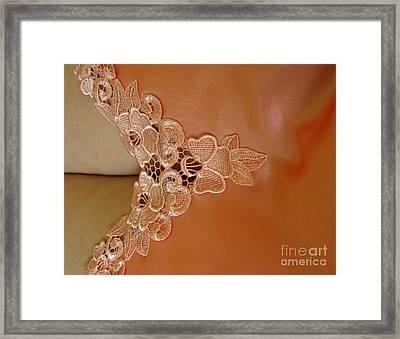Laces Framed Print by Ausra Huntington nee Paulauskaite