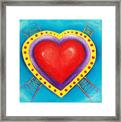 Ladders To Your Heart Framed Print by Melle Varoy