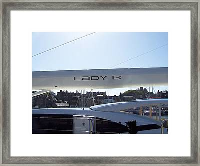Lady B Yacht Framed Print by George Leask