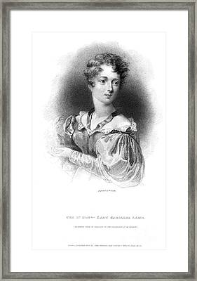 Lady Caroline Lamb Framed Print by Granger