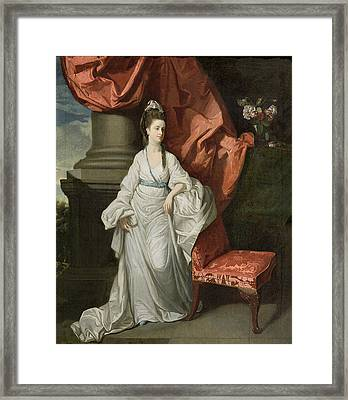 Lady Grant - Wife Of Sir James Grant Framed Print by Johann Zoffany