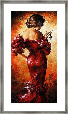 Lady In Red 33 Framed Print by Emerico Imre Toth