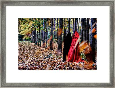 Lady In Red - 4 Framed Print by Okan YILMAZ