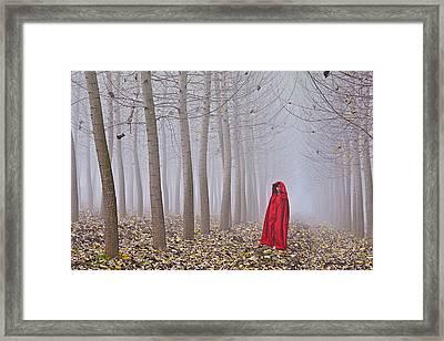 Lady In Red - 7 Framed Print by Okan YILMAZ