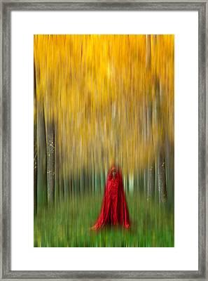 Lady In Red - 9 Framed Print by Okan YILMAZ