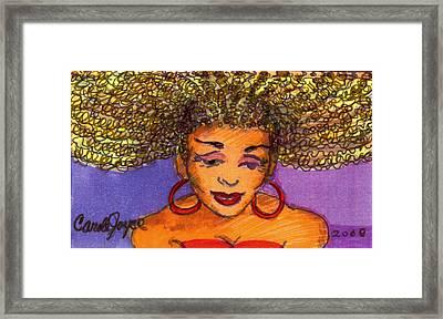 Lady In Red Framed Print by Carole Joyce