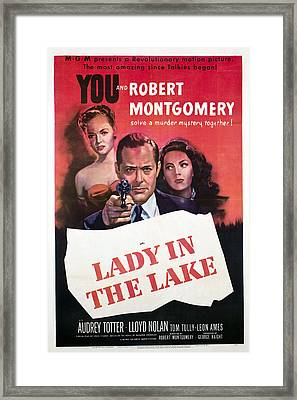 Lady In The Lake, Audrey Totter, Robert Framed Print by Everett