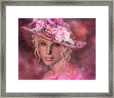 Lady In The Rose Hat Framed Print by Carol Cavalaris