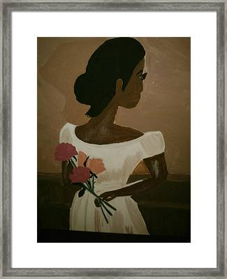 Lady In Waiting Framed Print by Felicia LaGrant