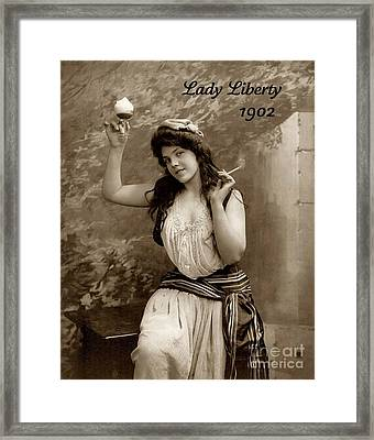 Lady Liberty 1902 Framed Print by Padre Art