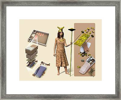 Lady Of Cao, Artwork Framed Print by Jose Antonio PeÑas