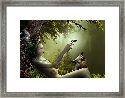 Lady Of The Forest Framed Print by Julie L Hoddinott