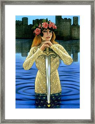 Lady Of The Lake Framed Print by Sue Halstenberg