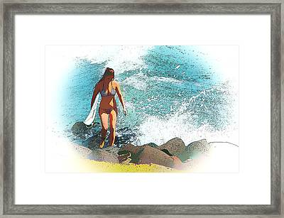 Lady Surfie Framed Print by Star Ship