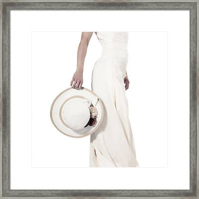 Lady With A Hat Framed Print by Joana Kruse