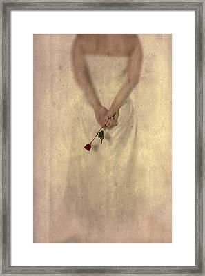 Lady With A Rose Framed Print by Joana Kruse