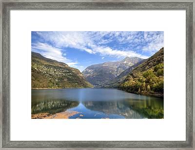 Lago Di Vogorno Framed Print by Joana Kruse